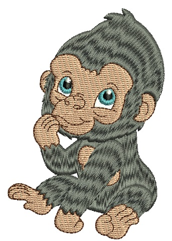 Baby Gorilla by Tea Tree Embroideries RFT.
