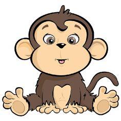 Baby gorilla clipart.