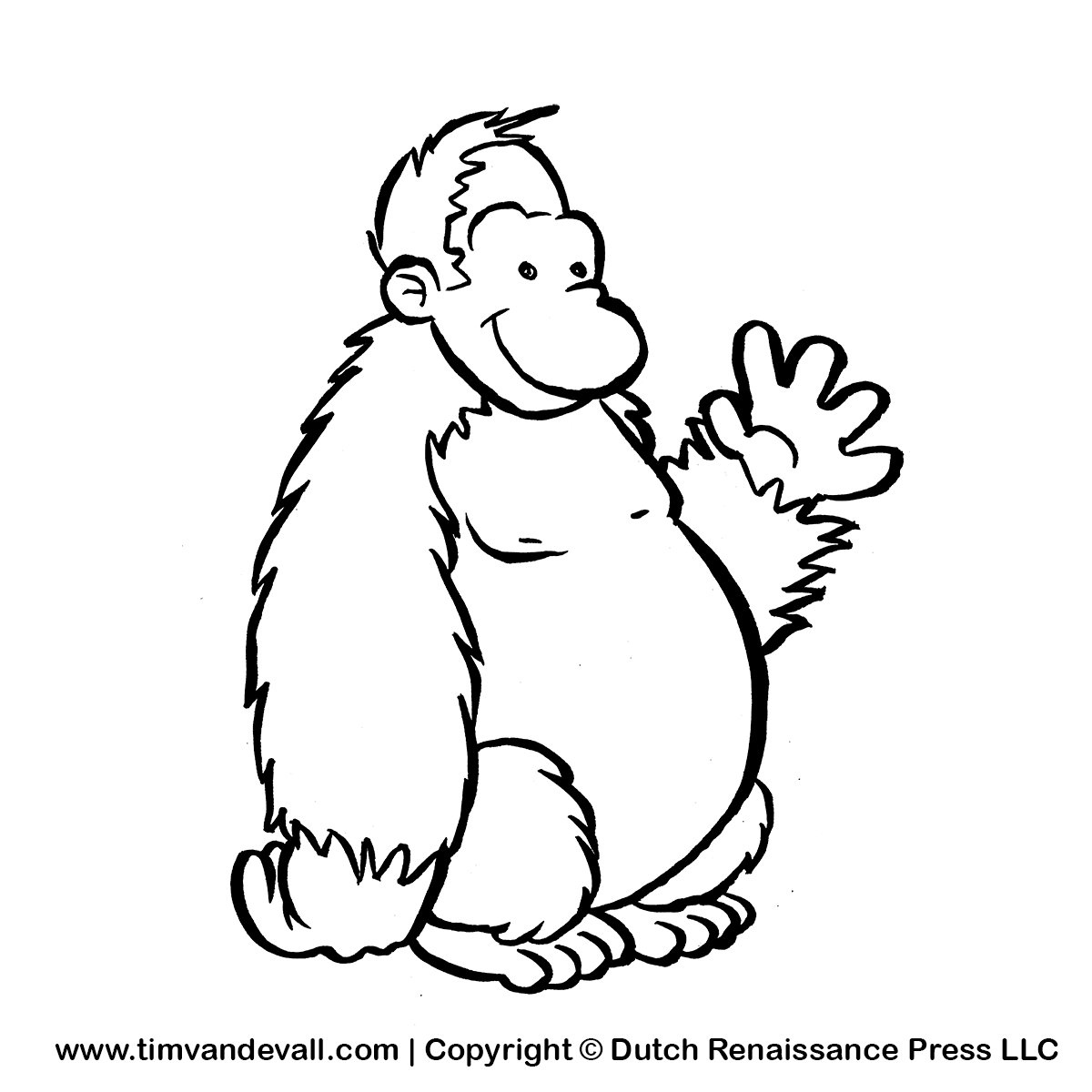 Free Black And White Gorilla Pictures, Download Free Clip.