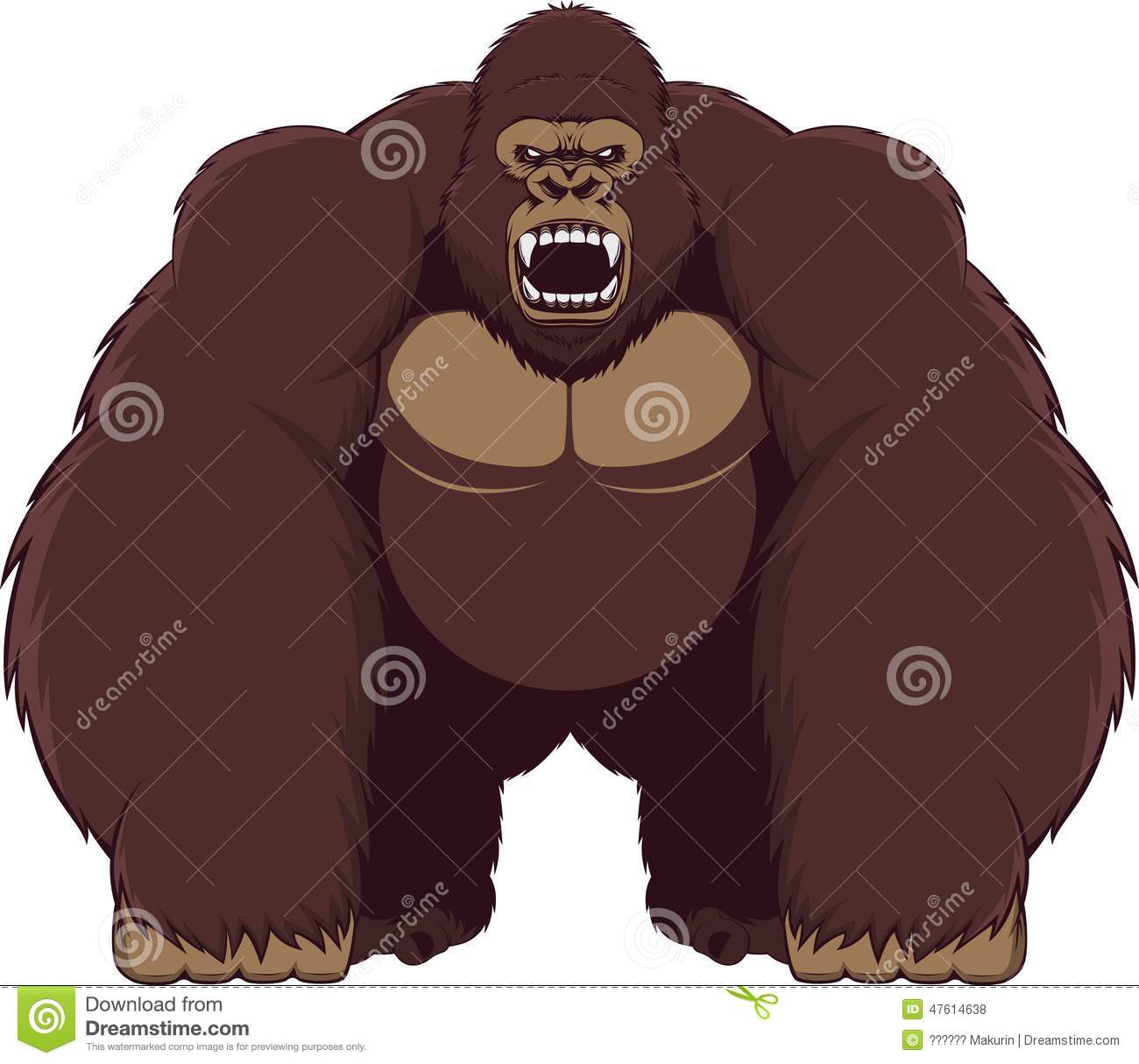Angry gorilla clipart.