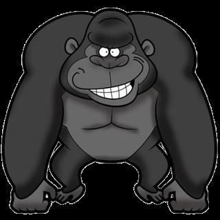 Funny gorilla clipart.