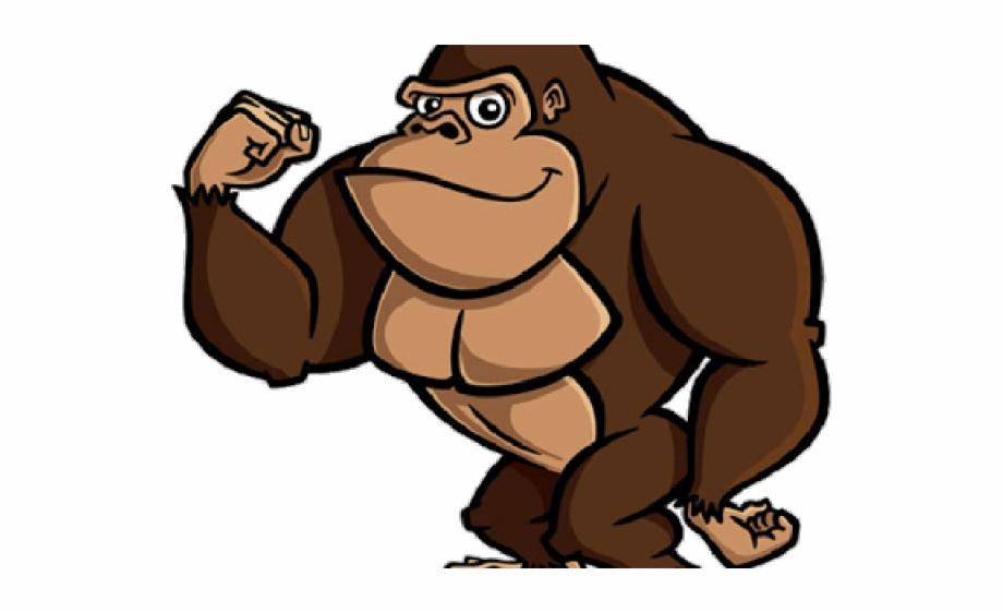 Gorilla Clipart Realistic Cartoon.