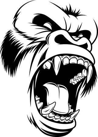 Gorilla head clipart » Clipart Portal.