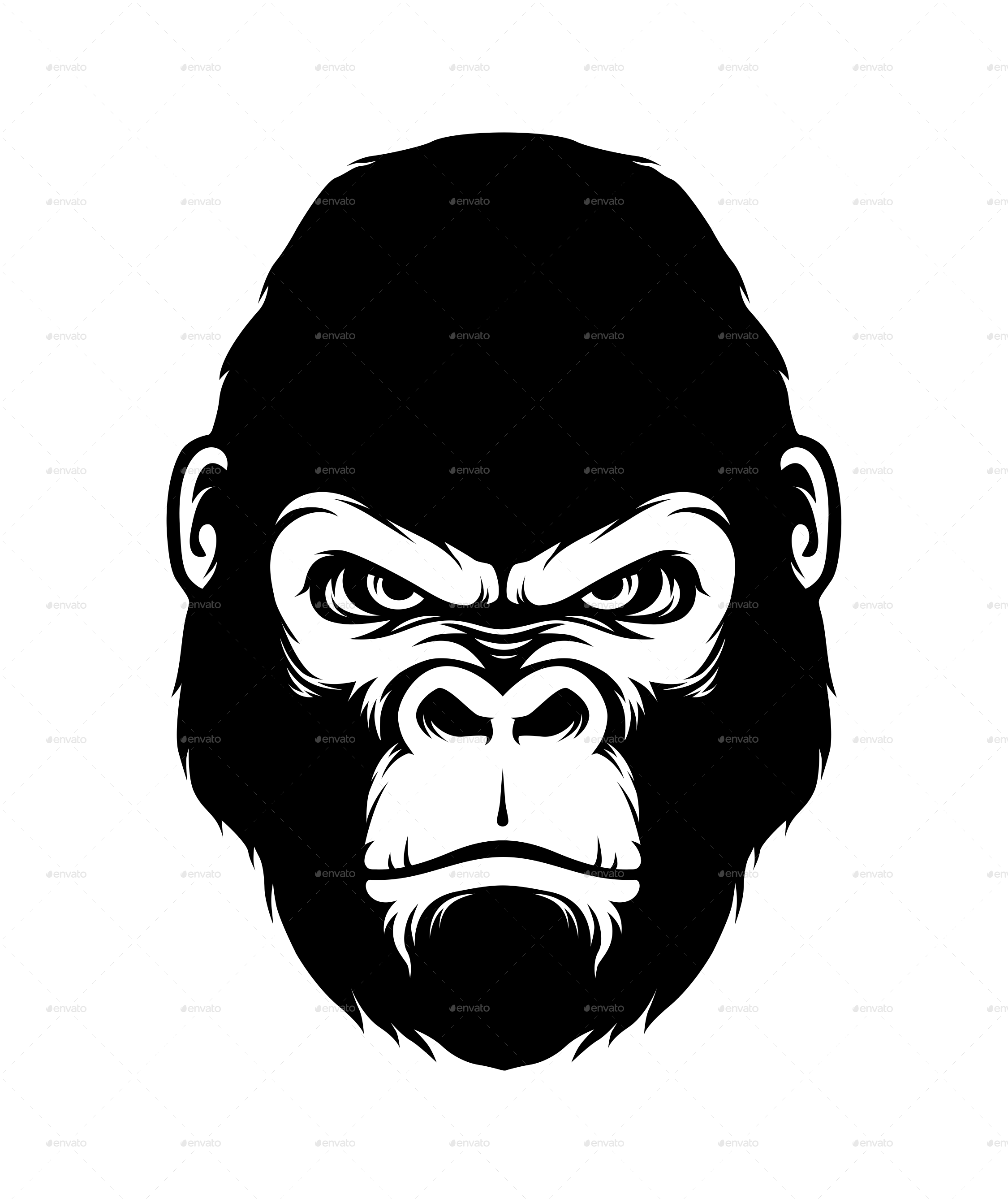 Gorilla head clipart images gallery for free download.