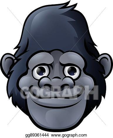 Gorilla head clipart 5 » Clipart Portal.