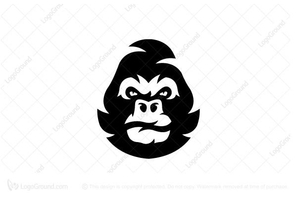 Exclusive Logo 187717, Gorilla Head Logo.