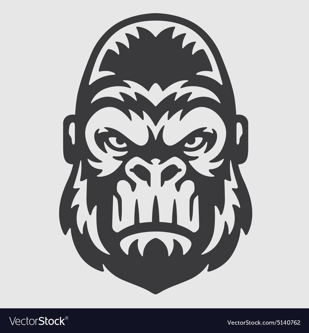 Gorilla Head Logo Mascot Emblem.