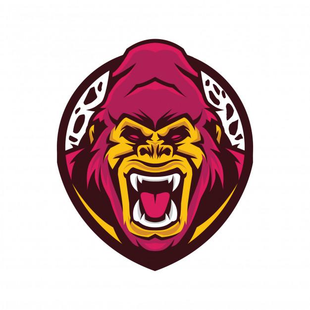Gorilla head logo Vector.