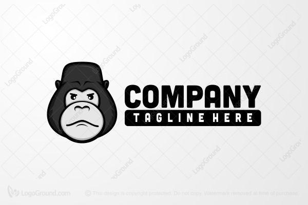 Exclusive Logo 113985, Silverback Head Logo.