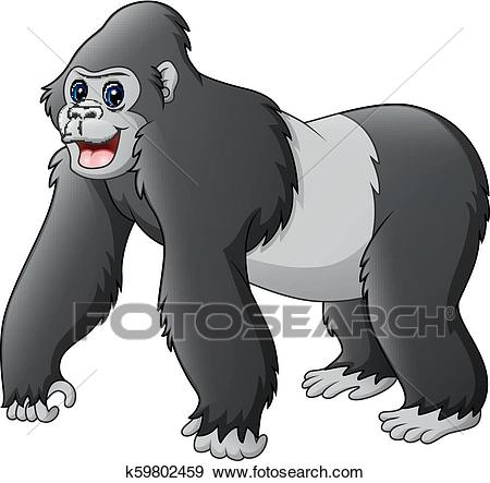 Cartoon funny gorilla Clip Art.