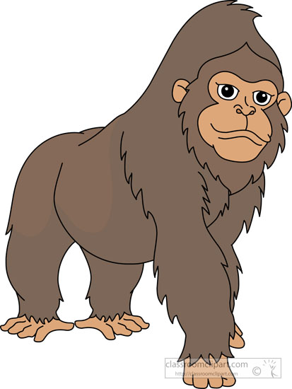 Large western gorilla clipart » Clipart Station.