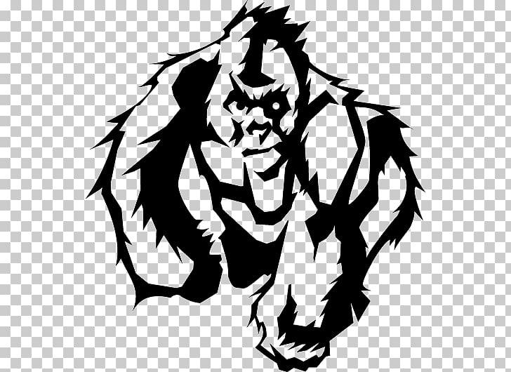 Lemurs Gorilla Logo Art, gorilla PNG clipart.