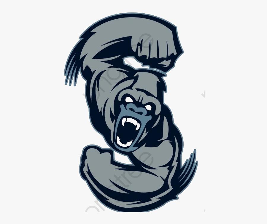 Gorilla Clipart Blue.