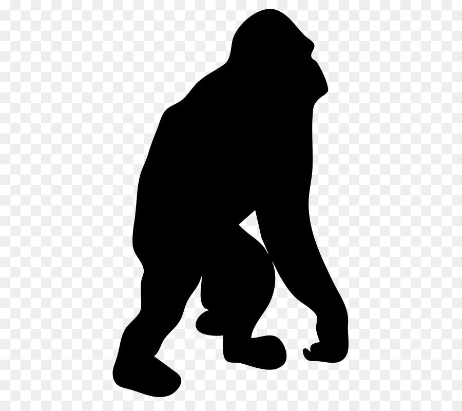 Gorilla Orangutan Silhouette Clip art.