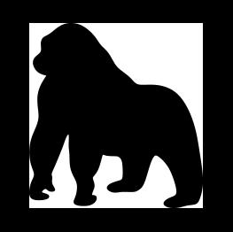 Gorilla Silhouette in 2019.