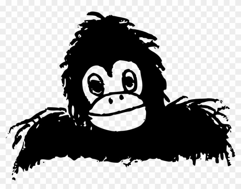 Mountain Gorilla Primate Ape Animal Silhouettes.