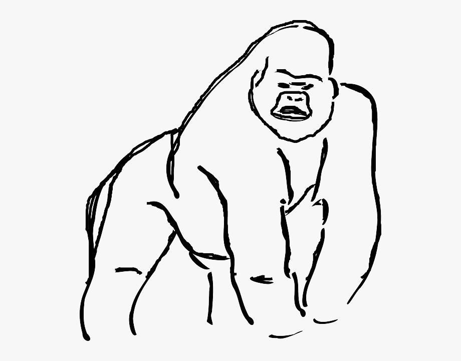 Gorilla Clipart Line.