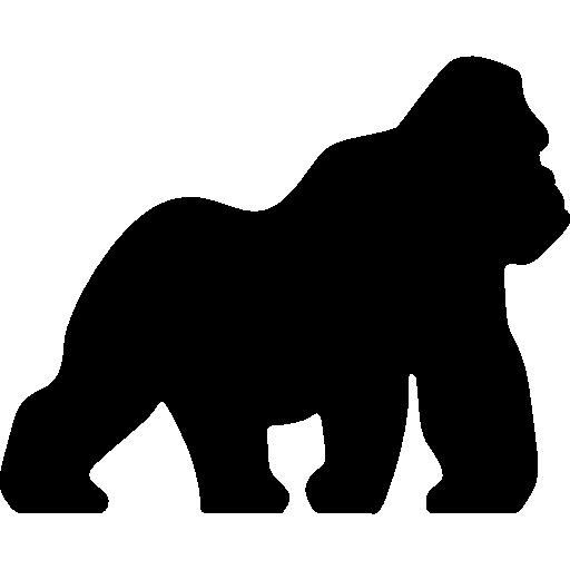 Gorilla Primate Silhouette Clip art.