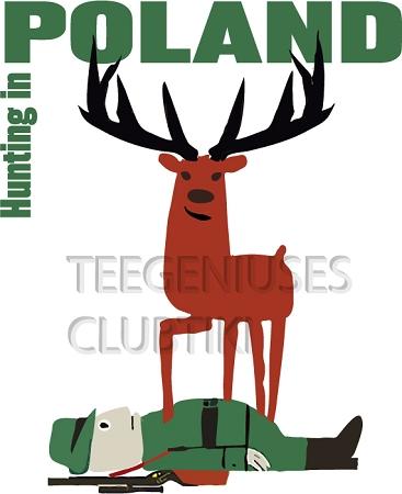 Hunting In Poland Travel Tourism Polish Poster Wiktor Gorka.