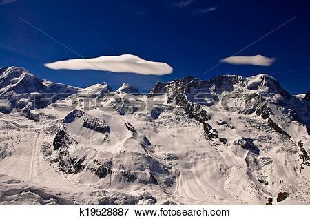Picture of View form Matterhorn peak, logo of Toblerone chocolate.