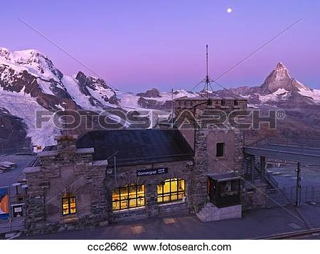 Stock Photo of Switzerland, Valais, Zermatt, Gornergrat,the.