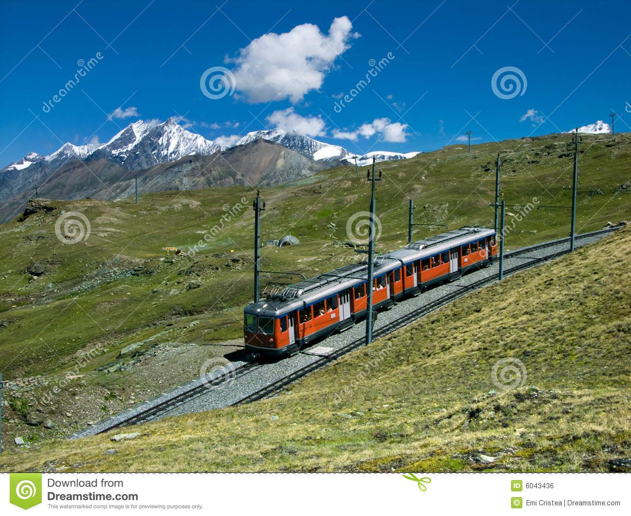 Gornergrat Train To Zermatt Royalty Free Stock Image.