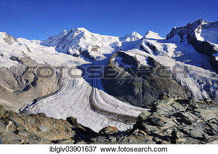 "Picture of ""Schwarze Mountain between Zwillingsgletscher and."
