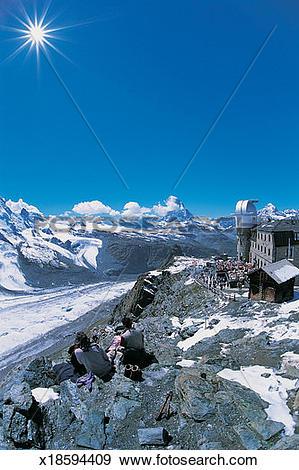Stock Photograph of Matterhorn, Gornergrat, Zermatt, Switzerland.