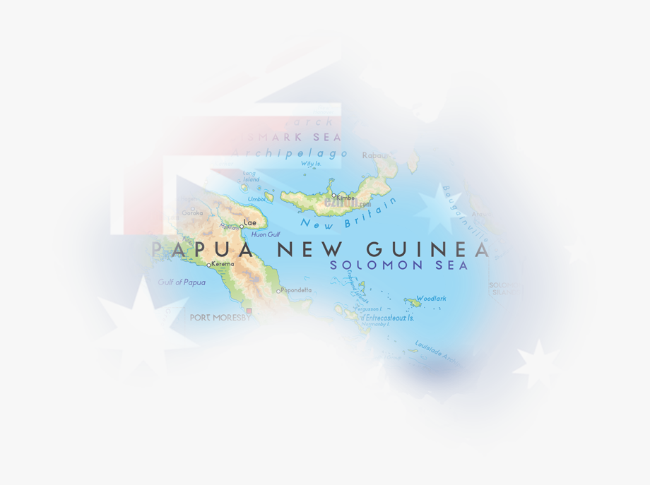 Papua New Guinea Map , Transparent Cartoon, Free Cliparts.