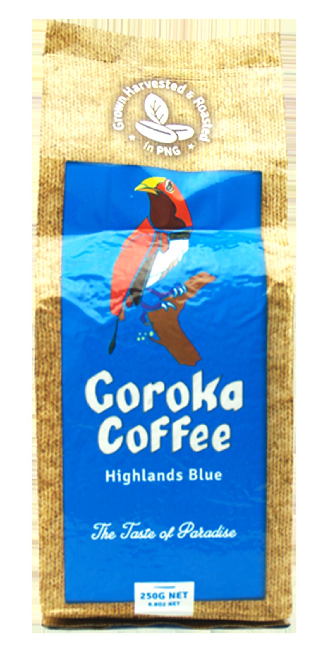 Goroka Coffee Highlands Blue Ground 250g.