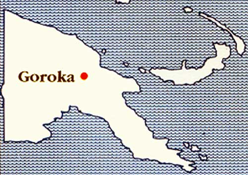 Map of where Goroka is situated.