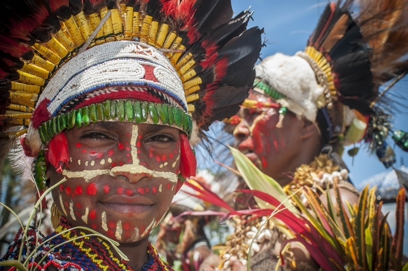 Tribal Gathering in Papua New Guinea.