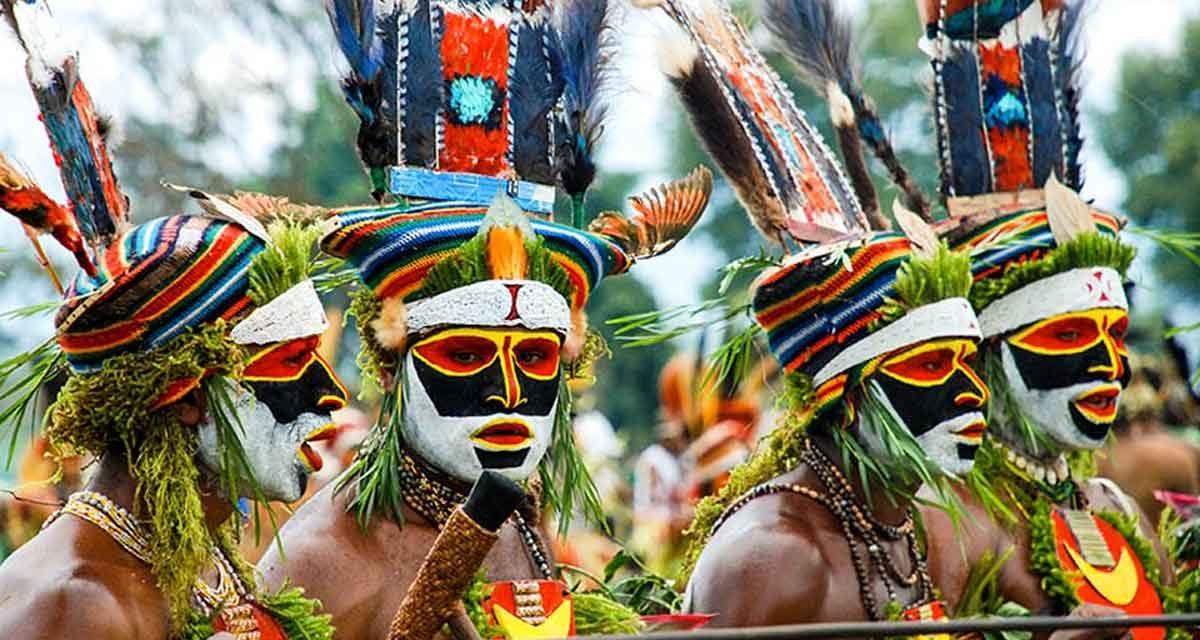 Visit Papua New Guinea: Tribal dances, Goroka Show, friendly people.