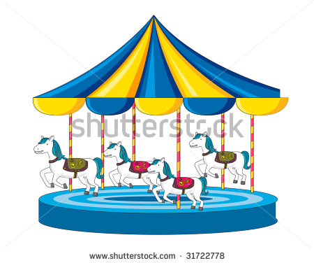 Illustration of merry go round.