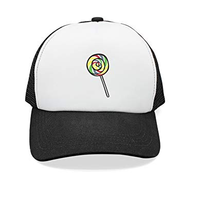 Amazon.com: xanx smon gorra plana Lolly Clipart de malla.