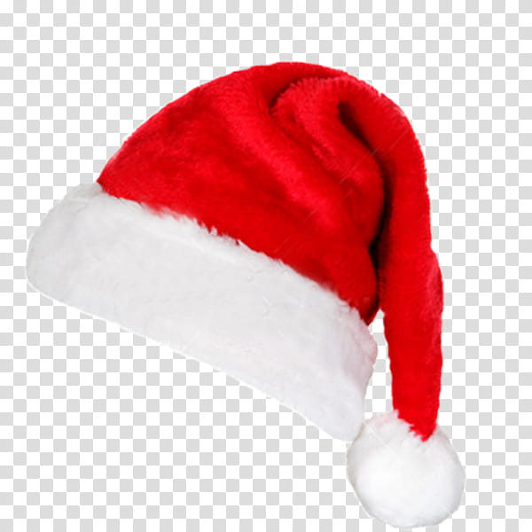 Gorro, red and white Santa Claus hat transparent background.