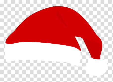Navidad, red and white Santa hat illustration transparent.