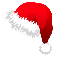 Gorros de Papa Noel para esta navidad en formato PNG.
