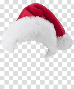 XMAS HATS, red and white hat transparent background PNG.