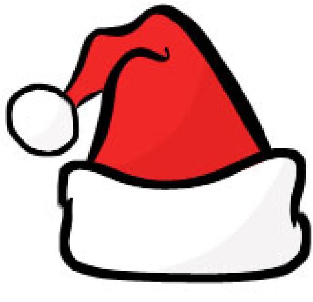Topi Santa Claus Clipart.