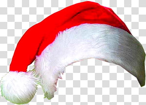 Navidad, red and white Santa hat transparent background PNG.