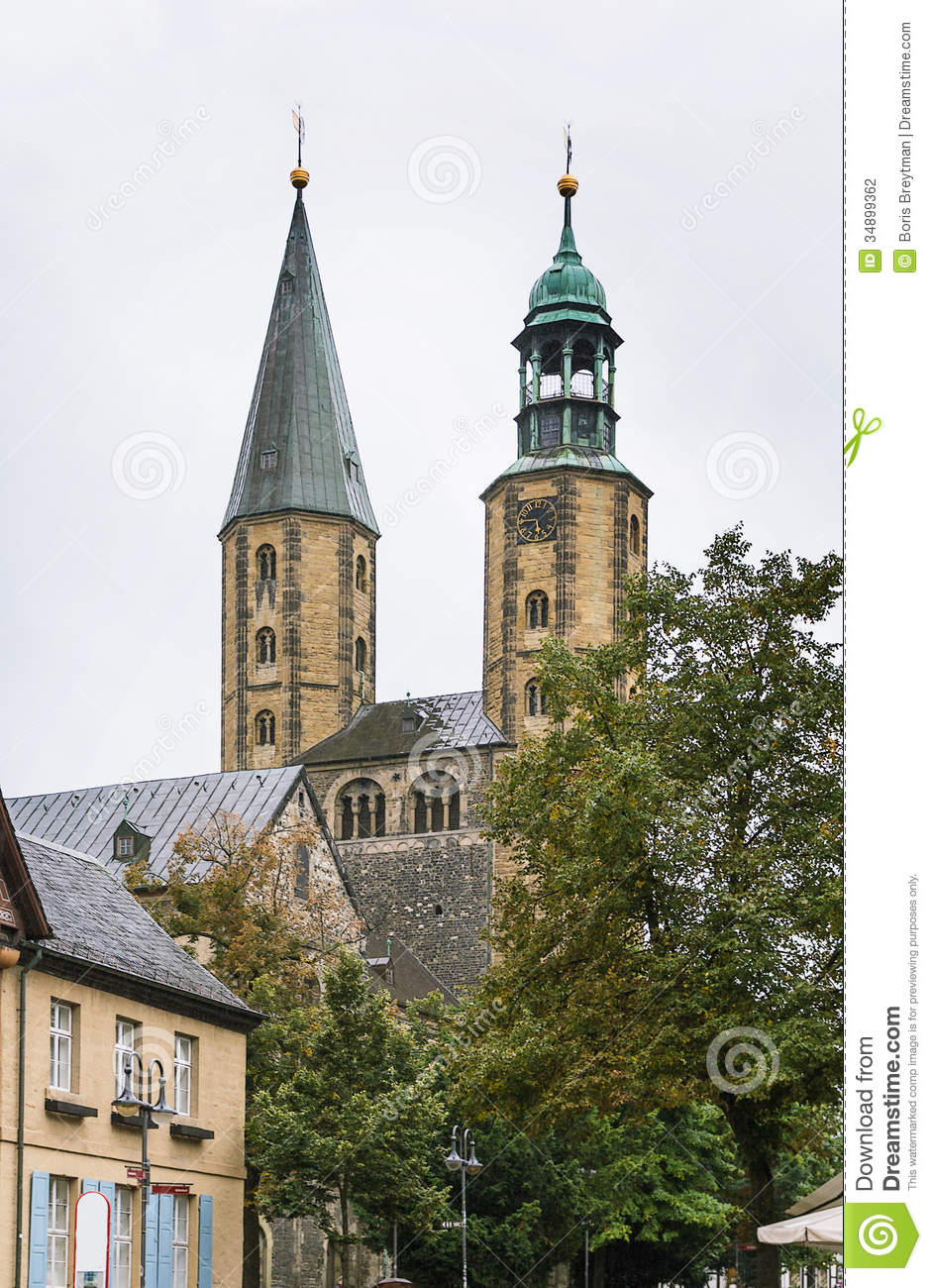 Market Church St. Cosmas And Damian, Goslar, Germany Stock.
