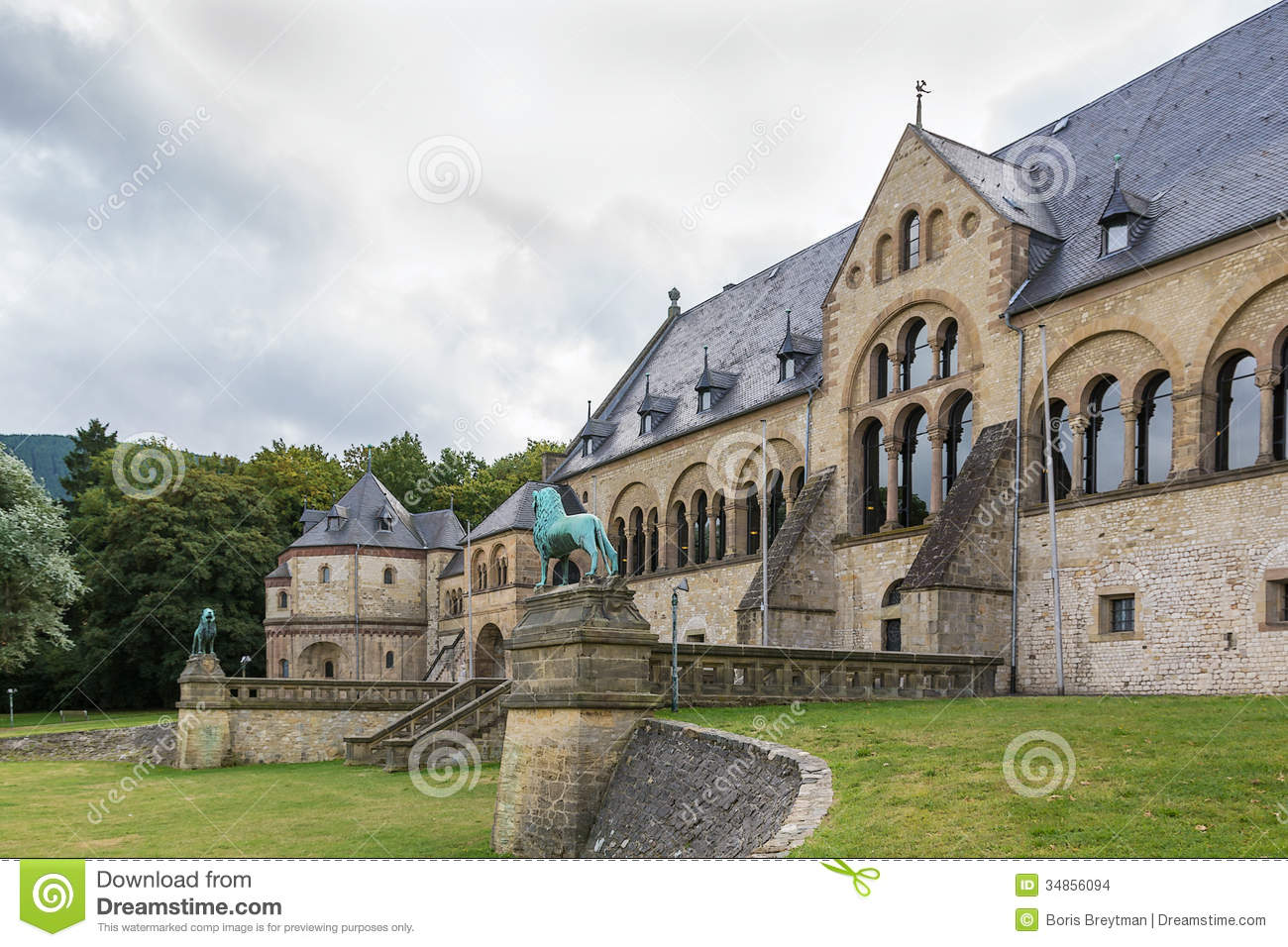 Mediaeval Imperial Palace In Goslar, Germany Stock Images.