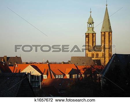 Stock Photo of Goslar in the evening k1657672.