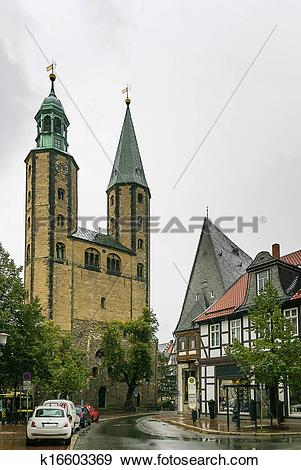 Stock Photograph of Market Church St. Cosmas and Damian, Goslar.