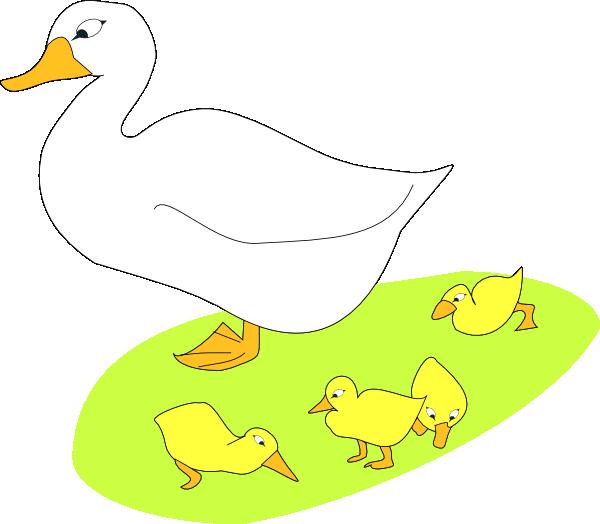 Goose With Gosling Clip Art at Clker.com.