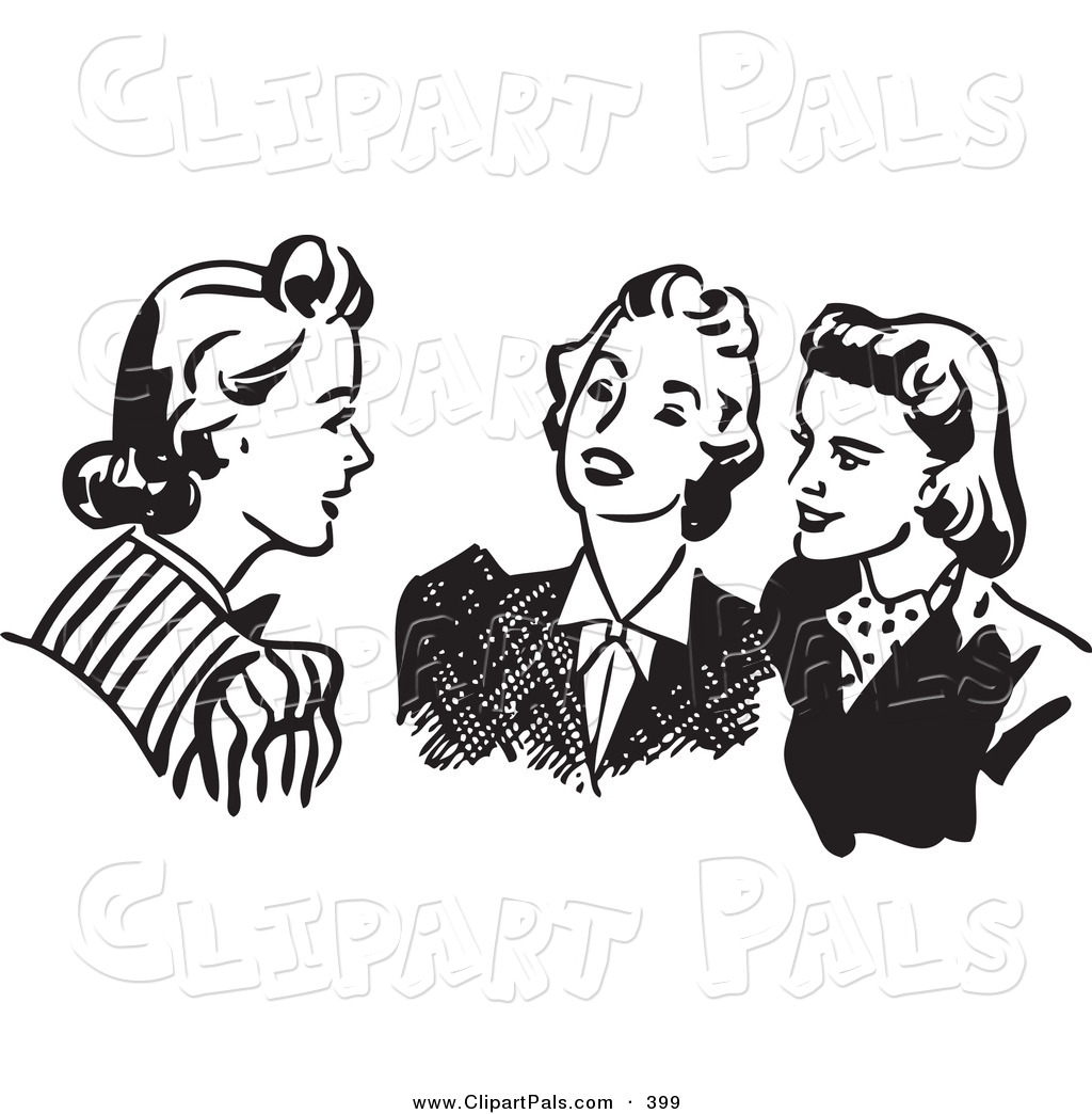 Gossip Clipart Page 1.