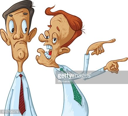 Business men gossiping Clipart Image.