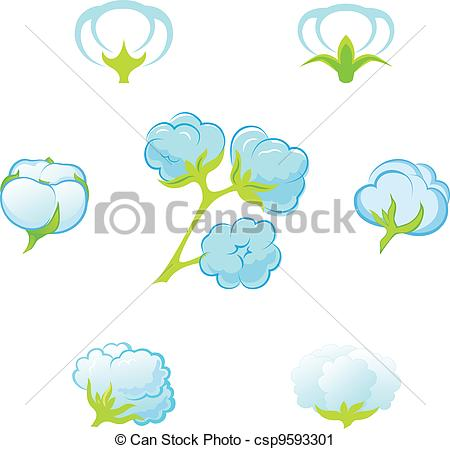 Vector Clip Art of cotton.