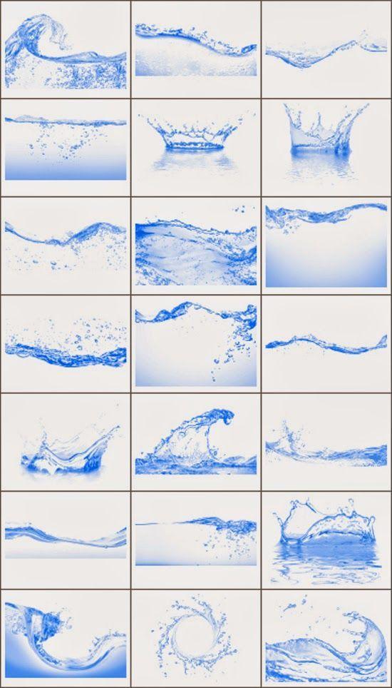 21 Pinceles HD de Agua para Photoshop.